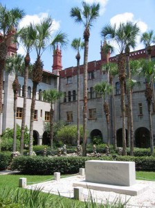 The courtyard at the Lightner Museum in St. Augustine.