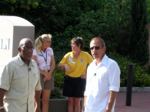 Al Roker, Sarah Evans, Linda Test and Matt Lauer