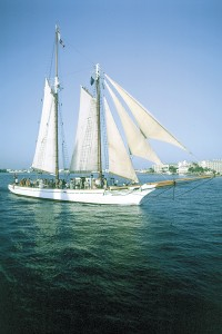 The schooner Western Union, flagship of the city of Key West.
