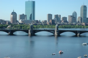 Labor Day in Boston from Longfellow Bridge