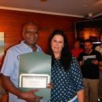 Supporting CASTmember of the Year Willie Webster with Office Manager Mary Martinez