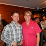 Rookie of the Year Justin Bahl and Head Conductor Candy Jones.
