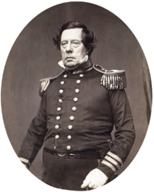 A photograph of Commodore Perry