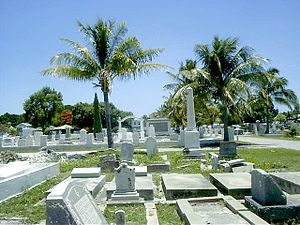 Our modern Key West cemetery.