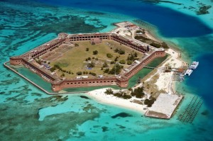 An aerial picture of Fort Jefferson