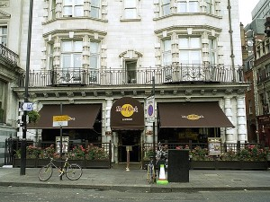 The Hard Rock Cafe in London, England.