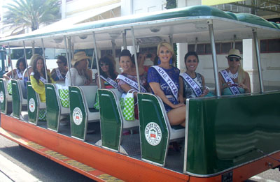 Mrs. International contestants enjoying a tour of St. Augustine