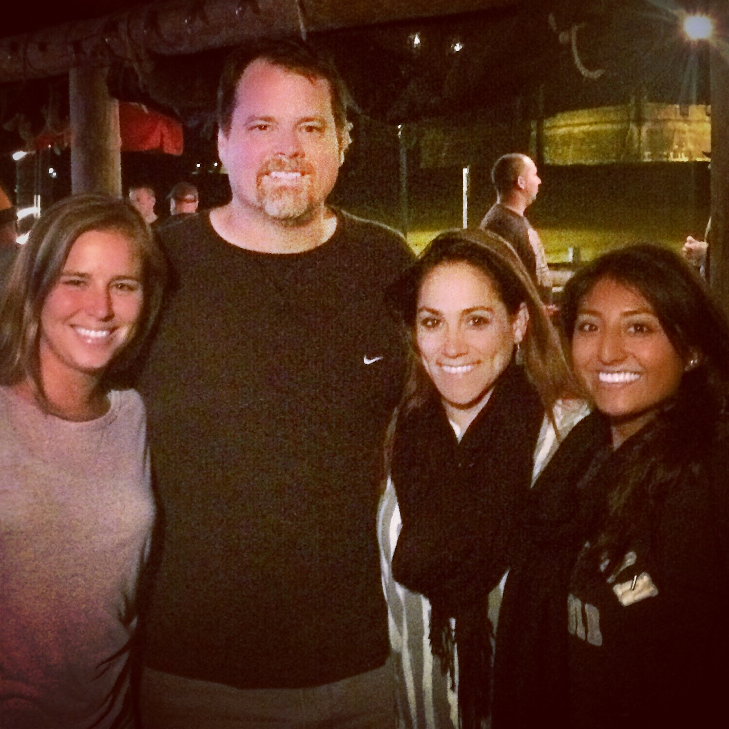 Aslyn Baringer, John Penney, Monica Munoz and Tania Alpizar in St. Augustine following a day of busy photo shooting.